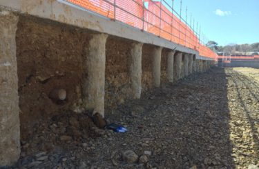 sheet piling retaining wall
