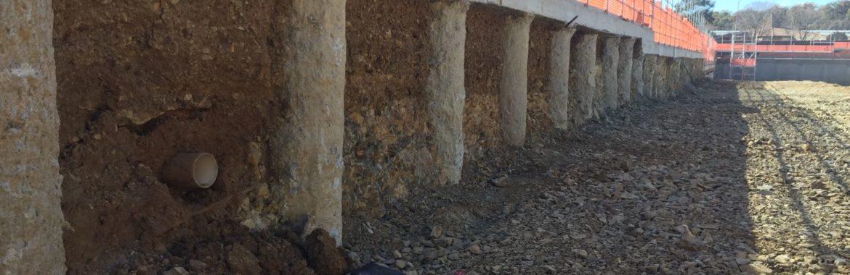 sheet piling retaining wall